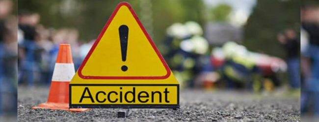 One dead and 9 injured in an accident in Madatugama