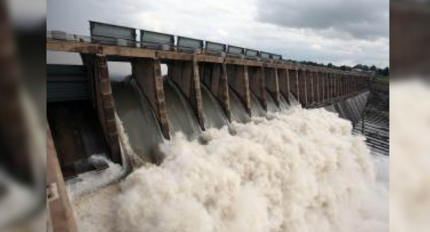 Six spill gates of the Weheragala reservoir opened