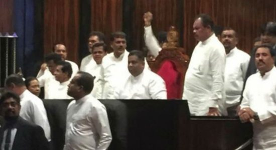 Parliament adjourned following protest in Parliament