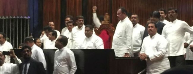 LIVE UPDATE : Parliament adjourned following protest in Parliament