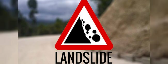 Landslide warning to three districts