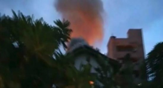 Fire reported from two houses in Moratuwa