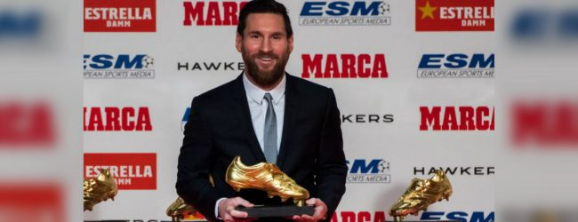 Lionel Messi wins fifth Golden Shoe award