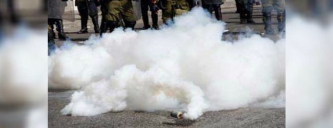 Tear gas, water cannons fired at student protesters