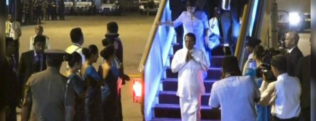 President returns to Sri Lanka
