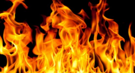 Fire erupts at a cardboard factory in Hendala