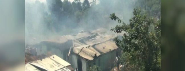14 line houses in Hatton destroyed in a fire