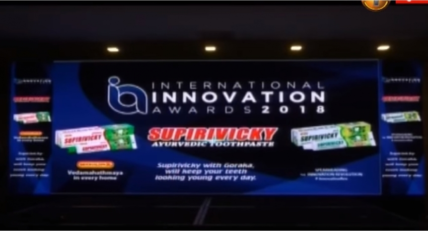 Supirivicky toothpaste honored by Enterprise Asia