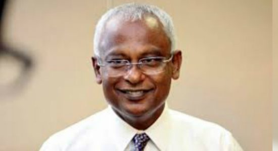 Maldivian President arrives at the country