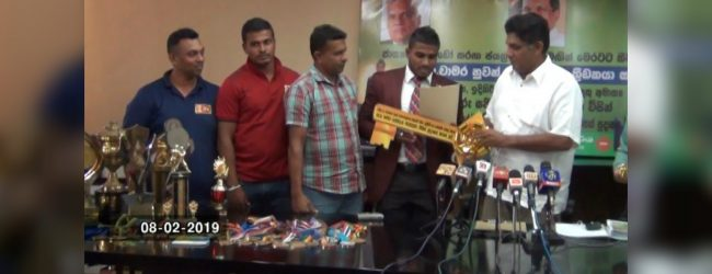 Judo champion receives a house from Minister Sajith Premadasa