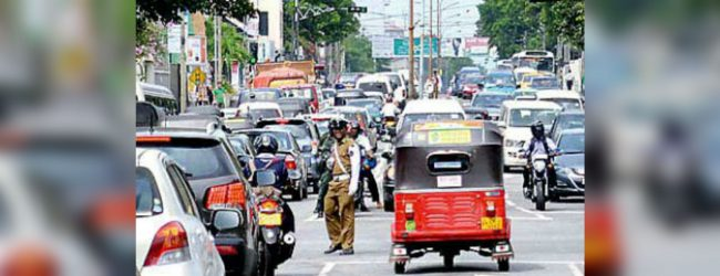 Restricted traffic from 7.00 pm on Sir James Pieris Mw due to Navam Maha Perehera