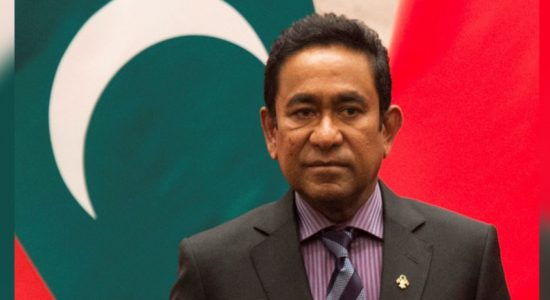 Court orders ex-president Yameen to be detained