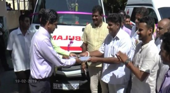 Two ambulances donated to Tangalle Base Hospital