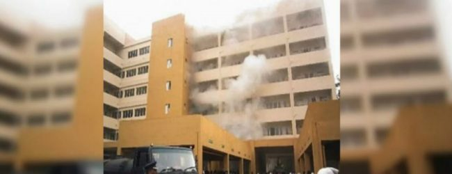 Rs. 6.3 million robbed from hospital safe during fire