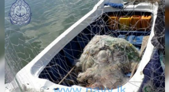 Banned fishing nets captured by the Navy in Batticaloa