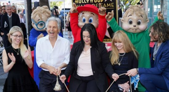 Star on the Hollywood walk of fame for Alvin and the Chipmunks