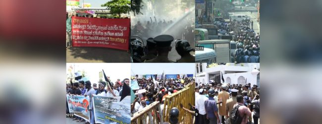 Multiple protests in Colombo stall traffic
