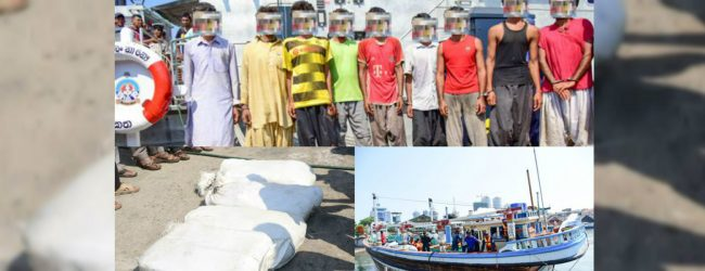 DRUG BUST : 9 drug smugglers arrested with 107.22Kg of heroin in southern seas