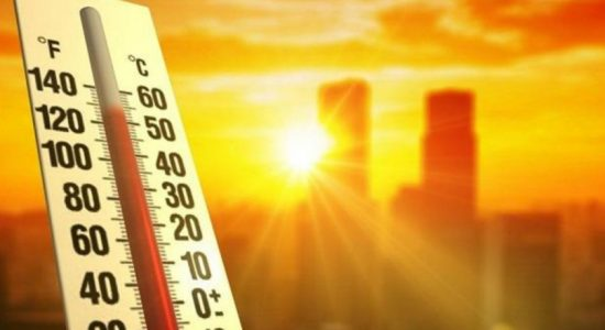 Extreme heat continues in North-West, Mannar, Vavuniya, Mullaitivu, Gampaha, Hambantota and Monaragala Districts