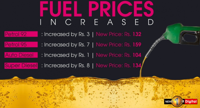 Fuel prices increased