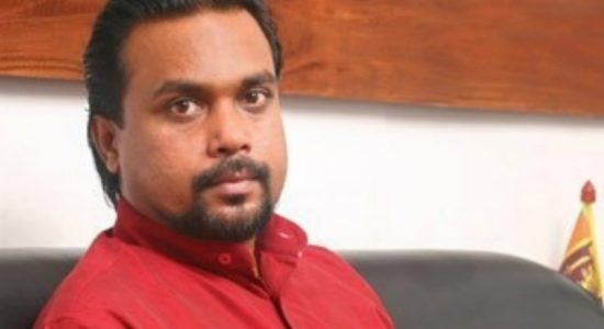 Millenium Challenge Corporation : Weerawansa shows letter with Temple Trees address