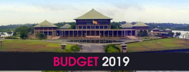 Budget 2019 vote tomorrow