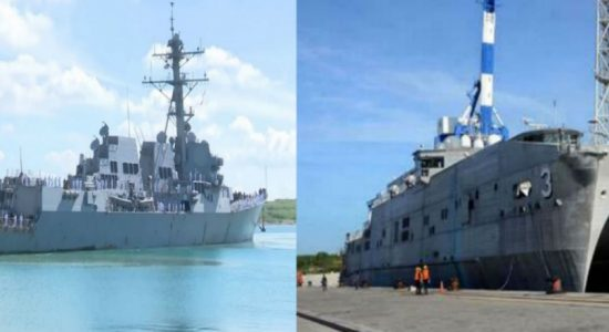 US warships arrive in Sri Lanka