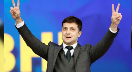 Ukrainians hail comedian's landslide victory in presidential run-off