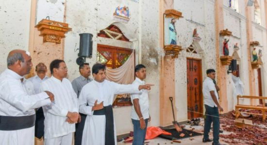 President inspects Katuwapitiya Church