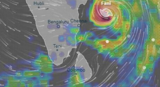 Cyclone 'FANI' moving away from Sri Lanka